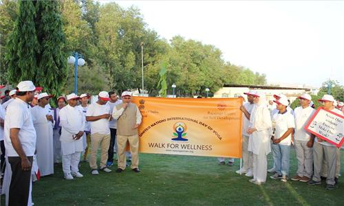Ambassador participated in Walkathon Walk for Wellness, organized by Rajyoga Centre for Self Development to celebrate the 3rd International Day of Yoga on 20th May 2017 at Qurum Natural Park