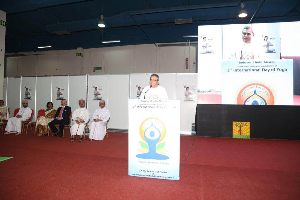 CELEBRATION OF 3RD INTERNATIONAL DAY OF YOGA BY EMBASSY OF INDIA IN MUSCAT(OMAN)