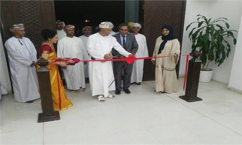 Inauguration of Indian Calligraphy Exhibition by His Excellency Mr. Abdul Aziz bin Mohammed Al Rowas, Advisor to His Majesty Sultan for Cultural Affairs on 20th March 2017. The exhibition will remain on display till 25th March 2017 at Omani Society for Fine Arts during visiting hours from 9 am to 1.30 pm and 4.30 pm to 8 pm. All are requested to visit.