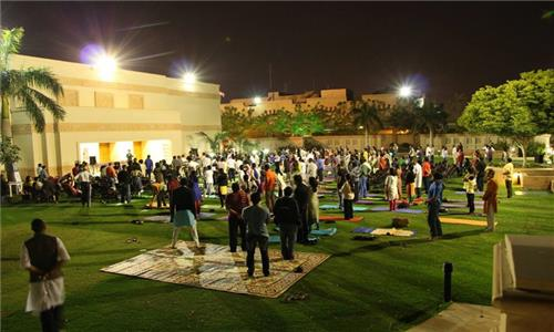 A Yoga and Meditation Session was organized at Embassy Lawns on 11th February 2017 by Art of Living.