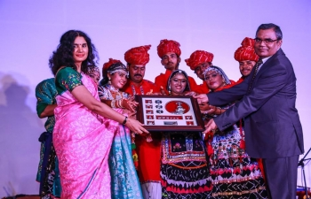 To celebrate 70th Anniversary of Independence of India, Embassy hosted a Rajasthani Folk Dance performance sponsored by The Indian Council of Cultural Relations, Government of India, on 23rd August , 2017