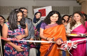 Mrs. Sushma Pandey, wife of Ambassador Indra Mani Pandey, inaugurated VAMA Designer Boutique