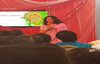 Mrs. Sushma Pandey, wife of Ambassador, attended Onam Celebration by Rajyoga Centre, Muscat on 8th September 2017.