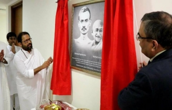 A photograph of Mahatma Gandhi was unveiled by Ambassador on 12th September 2017 in Muscat