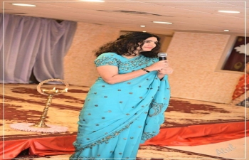 """Mrs. Sushma Pandey, wife of Ambassador, was the Chief  Guest at  'Kajri  Celebration 2017"""", organized by Bhojpuri Wing of Indian Social Club,  Oman on 16th September 2017 ."""