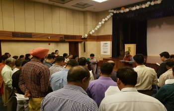 In honour of Vigilance Awareness Week, Ambassador, Indra Mani Pandey and Staff of Embassy of India, Muscat takes 'Integrity Pledge for Organizations' and 'Integrity Pledge for Citizens'