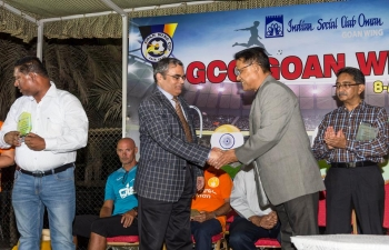 Ambassador was invited as Chief Guest, 'GCC Goan Wing Cup, One Day 8-a-side Football Tournament' organized by Indian Social Club- Goan Wing, which, included music, dance performances and other competitions. 8 teams from Oman and 8 from GCC countries participated it the GCC-Goan tournament.