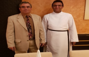 Ambassador hosted lunch for Rev. Priests and Pastors of various denominations of Churches of Muscat.