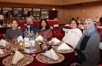 Embassy of India, in collaboration with the Art of Living, Oman, and Sri Sri Ayurveda Clinic, Muscat, organized a workshop on the role of Yoga and Ayurveda in ensuring health and wellness. The workshop was attended by women from diplomatic corps, expatriate communities as well as Oman.