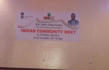 Ambassador visited Ibra to hold an open house meeting with the Indian community residing in Ibra and the surrounding regions.
