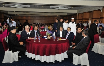 Ambassador was invited to the Bicentennial of Birth of Sir Syed Ahmad Khan, founder of AMU, by AMU Alumni in Oman, in presence of External Affairs Minister of India, Shri Salman Khurshid.