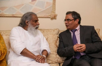 Ambassador was invited to meet and interact with legendary singer Gana Gandharva and Padma Vibhusan Shri Yesudas who visited Muscat last week to bless the concert organized in support of the campaign 'Together We Can' to raise awareness about cancer and the importance of its early detection and to raise funds for Oman Cancer Association.