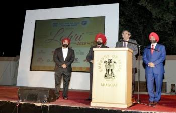 Ambassador hosted Lohri celebration at Embassy lawns, organized by Punjabi Wing of Indian Social Club Oman on 14th January 2018.