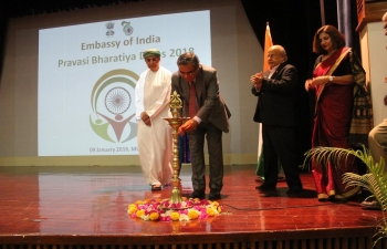Embassy celebrated Pravasi Bhartiya Divas 2018 at Embassy premises, which was attended by more than 300 members of Indian community. There was lively discussion on various issues raised by the community.