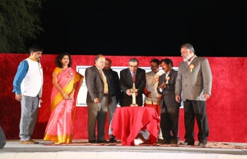 """Ambassador was the Chief Guest at an annual programme """"Colours of India"""", organized by Indian Social Club Sohar recently."""