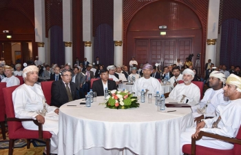 Ambassador addressed the India-Oman Investor's Meet 'Destination Oman', organized by Muscat Chapter of Institute of Chartered Accountant of India and College of Banking and Financial Studies, organized under patronage of Minister of Commerce and Industry of Oman on 18th January 2018, in which around 70 Indian companies participated.