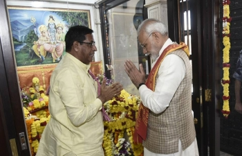 Shri Narendra Modi, Honourable Prime Minister of India, visited old Shiva Temple, known as Motishwar Mandir, constructed 125 years ago by Merchant community from Gujarat and renovated/ reconstructed in 1999