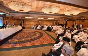 Honourable Prime Minister of India, Shri Narendra Modi, addressed top business leaders and CEO's of Oman and invited them to expand their business in India and avail the opportunity offered by the world's largest and fastest growing economy for their investments.