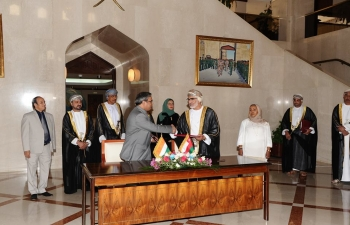 During the visit of Indian Prime Minister to Oman, 8 agreements and MoUs have been signed. They cover Mutual Legal Assistance Treaty (MLAT) on Civil and Commercial Matters; Cooperation between National Defence College (NDC) and Institute for Defence Studies and Analysis (IDSA); Cooperation in Peaceful Uses of Outer Space; Visa free travel for Official/ Diplomatic holders; Cooperation in field of Health; Cooperation in the field of Tourism; Cooperation between Foreign Service Institute of India (FSI) and Oman Diplomatic Institute.