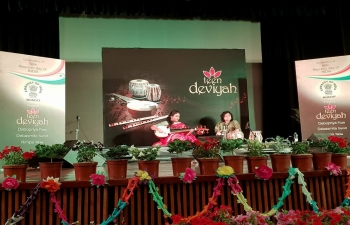 As part of celebrations to commemorate 70 years of Independence, the Embassy hosted, 69th Republic Day, a concert called 'Teen Deviyan', comprising of three renowned women musicians playing, individually and in concert, Flute, Sarod and Tabla.