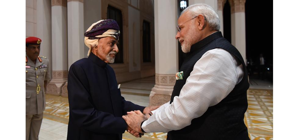 Prime Minister Narendra Modi meets Sultan of Oman Qaboos bin Said al Said