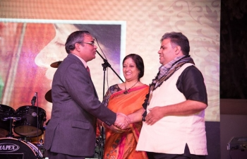 """Embassy of India in collaboration with SAAS Events, organized """"Indian and Global Fusion Music"""" on 15th February 2018 at Indian Embassy Lawns."""