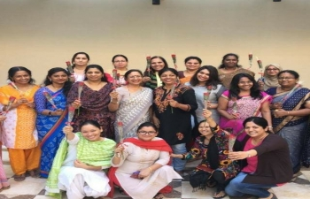 As we celebrate International Women's Day today, we, the members of Indian Embassy in Muscat, re-dedicate ourselves to work towards empowerment of women, ensuring that their right to equality, as guaranteed under Indian Constitution, is respected, protected and promoted. We are determined to work towards creating in India conducive political, economic, social and cultural eco-systems, which will protect, promote and ensure equal rights for our women and girls and their empowerment so that our women and girls are able to make their full contribution in building a New India by 2022, a clean India, which is free of corruption, poverty, terrorism, communalism, casteism. In a ceremony Women colleagues of Indian Embassy were honoured to show our respect and appreciation for their contribution.