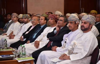 Embassy of India, Muscat, organized an 'Invest in India' Seminar, on 21 March 2018. Around 250 Omani businesspersons and representatives of Omani financial institutions, including Banks and Funds, attended the event. H.E Mohammed bin Yousuf Al Zarafi, Under Secretary, Ministry of Foreign Affairs, was the Chief Guest. A Representative of 'Invest in India', India's National Investment Promotion and Facilitation Agency, made a presentation on investment opportunities available in India and India's recent transformation as a preferred destination for investors. A representative of Madhya Pradesh State of India highlighted opportunities for investments in Madhya Pradesh. Mr. Alkesh Joshi, Partner- E & Y, made a presentation on the Ease of doing Business in India. Mr. Pankaj Khimji, Director Khimji Ramdas, and Mr. Warith Al Kharusi, Chairman of Oman Centre for Skills Development, spoke about their experiences of doing business in India.