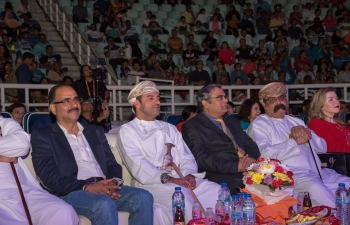 """Ambassador was invited as the Chief Guest to give away awards to the Winners of """"Dil ki Awaaz"""", which was organized by Muscat Kathiyawadi Parivar. This is the first initiative of its kind in Oman, where Indian Nationals working in Oman were invited to participate in the competition."""
