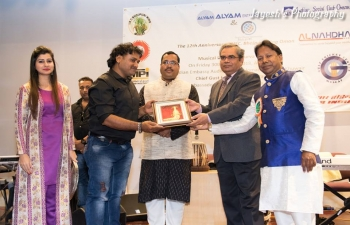 "Ambassador was invited as Chief Guest to ""Purva Pawan"", a Musical Programme to celebrate the 12th Anniversary of Bhojpuri Wing of Indian Social Club, Muscat at Embassy Auditorium."