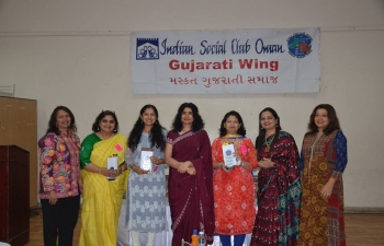 Mrs. Sushma Pandey, wife of Ambassador, was invited as Chief Guest at the International Women's Day Celebration organized by Muscat Gujarati Samaj.