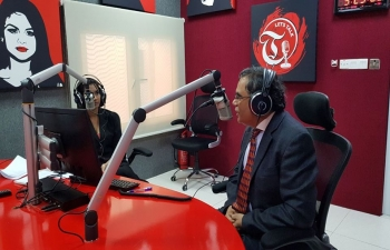 Ambassador was invited as the first guest speaker on 'Let's Talk' Show of Times FM Oman, on 1st April 2018, where he spoke about India- Oman Bilateral Relations and various community matters.