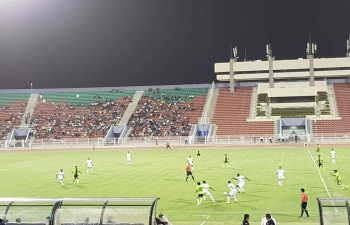 Commencement of India Oman Sports Meet 2018 with a football match between Sur Club of Oman and Gokulam FC from India.