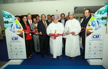 Ambassador was invited to inaugurate the Indian Pavillion at the 5th International Trade and Medical Tourism Exhibition (IMTEC) which was held at Oman Convention & Exhibition Centre from 24-26 April 2018, in which 24 Indian hospital and medical tourism companies took part.