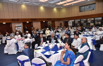 Embassy of India, Muscat, organized a Roadshow on 'Vibrant Tamil Nadu Global Food Expo and Summit' on 16th April 2018 at its premises, with a view to promote participation of Omani companies from food, agro-products and related sectors. 'Vibrant Tamil Nadu Global Food Expo and Summit' will be held in Madurai in Tamil Nadu State of India during 12-15 August 2018. Mr. Saif Sultan Al Shaibani, Director General for Trade Operations at Public Authority for Food Stores, was the Chief Guest. Around 60 Omani Officials and representatives of companies from food, agro-products and related sectors attended the Roadshow