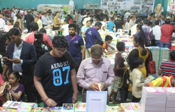 "In celebration of 70th Anniversary of India's Independence, Embassy of India, Muscat along with Indian Social Club, Oman, in association with Al Bhaj Books organized ""BOOKFEST 2018"" from 11-14 April 2018. Over 50,000 books in 12 different languages were displayed at Indian Social Club. In addition, Interaction with Mr. Nambi Narayanan, Retd. ISRO Scientist along with activities for children namely quiz competition, colouring competition and poetry competition were also organized."