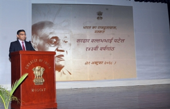 Embassy celebrated 143rd Birth Anniversary of Sardar Patel and #NationalUnityDay, with participation of over 200 persons, by organizing a photo exhibition, screening of videos and talks on life and contributions of the leader.
