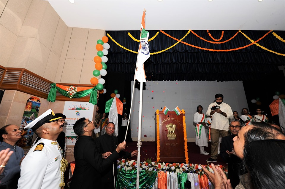 The 73rd Independence Day was celebrated with great fervour and enthusiasm at Indian Embassy, Muscat.