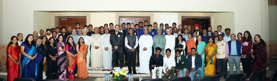 Members of Indian community joined the Embassy in welcoming the Indian Football team to Muscat.