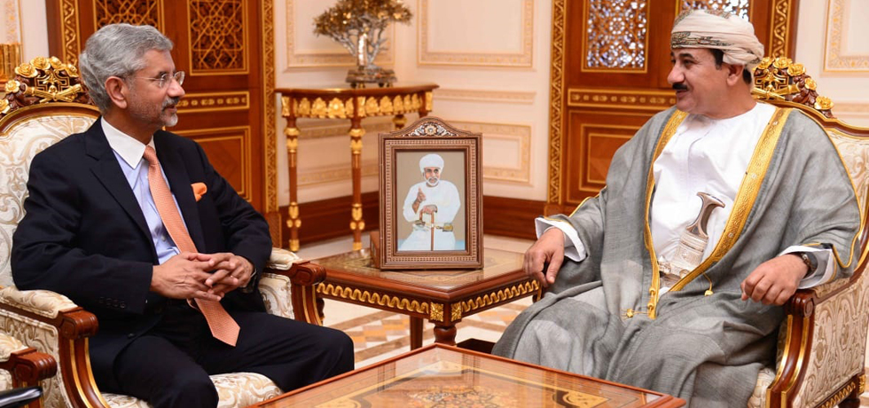 Meeting of EAM Dr. S. Jaishankar with H.E. General Sultan bin Mohammed Al Nu'amani, Minister of Royal Office