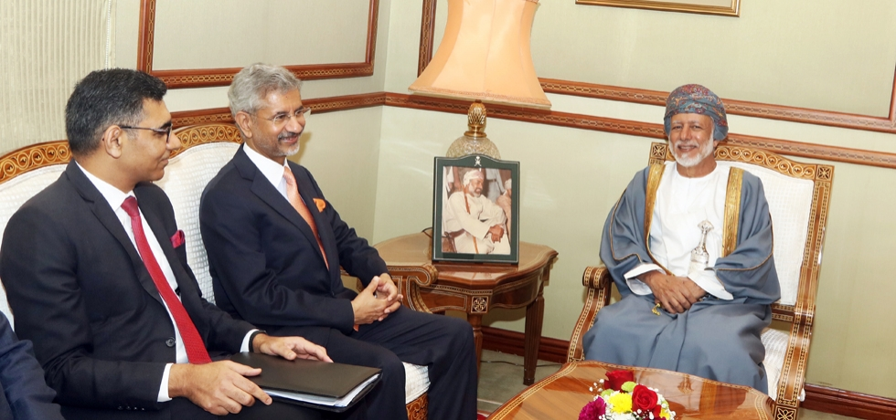 Meeting of EAM Dr. S. Jaishankar with H.E. Yousuf bin Alawi bin Abdullah, Minister Responsible for Foreign Affairs