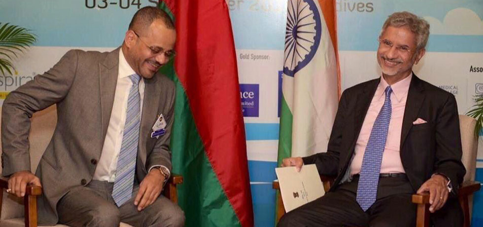 EAM Dr. S. Jaishankar met with H.E. Sayyid Badr Al Busaidi, Oman's Minister of Foreign Affairs, in Maldives on 4 September 2019 on the sidelines of Indian Ocean Conference 2019