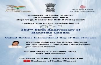 152nd Birth Anniversary of Mahatma Gandhi